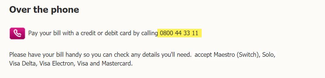 bt payment number