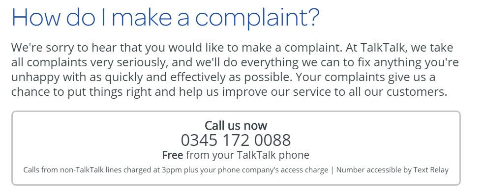 TalkTalk complaint