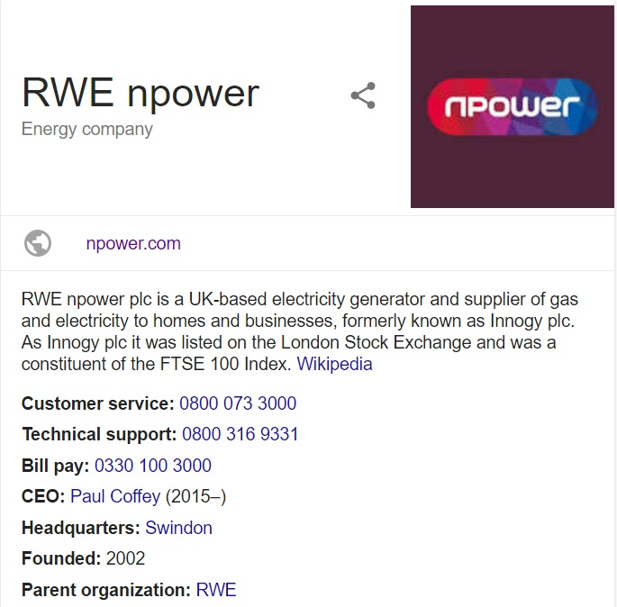 contact npower