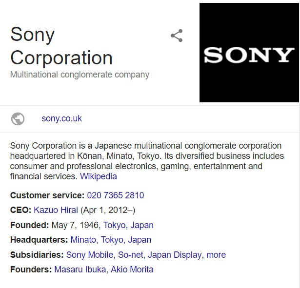 Sony Customer Service, UK Contact Telephone Number: 0843 837