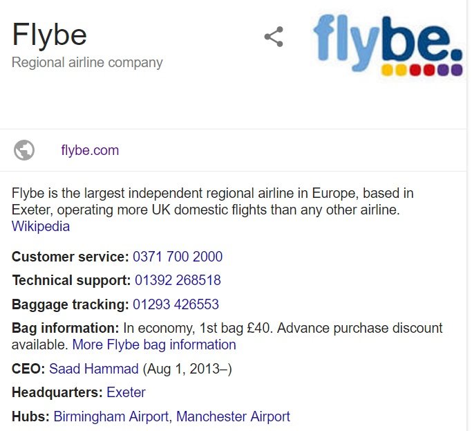 Flybe UK Customer Service Phone Numbers Help, Support 0845 ...