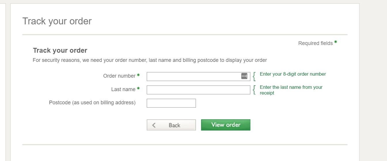 order tracking John Lewis