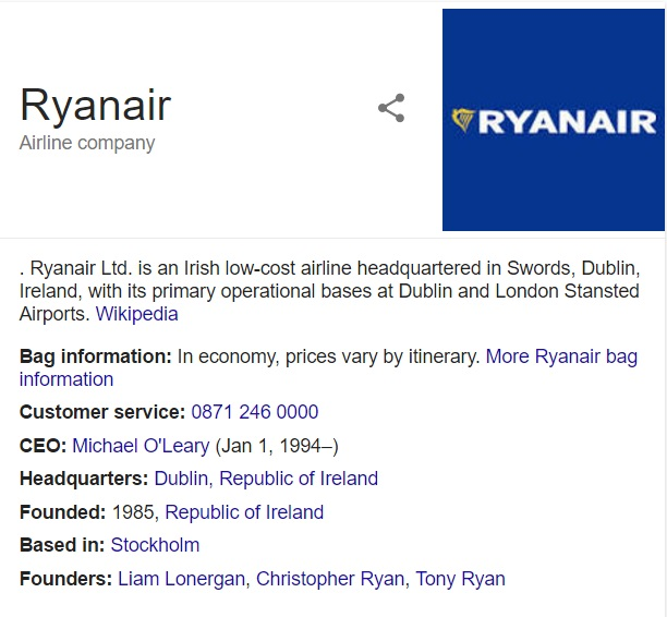Conact Ryanair