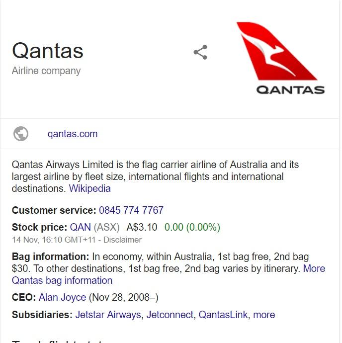 jetstar australia number