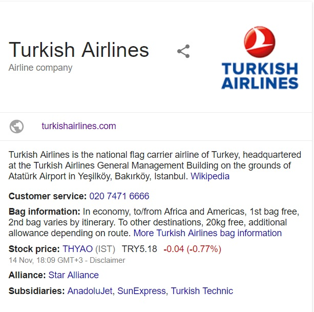 Turkish Airlines: Customer Service Contact Number: 0844 800