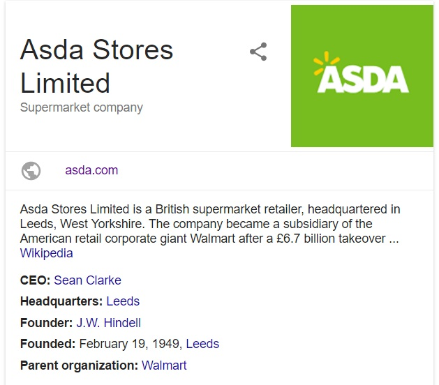 contact asda stores limited