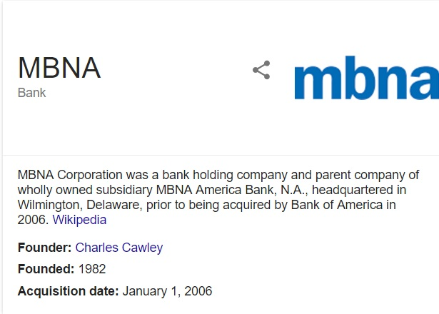 contact mbna