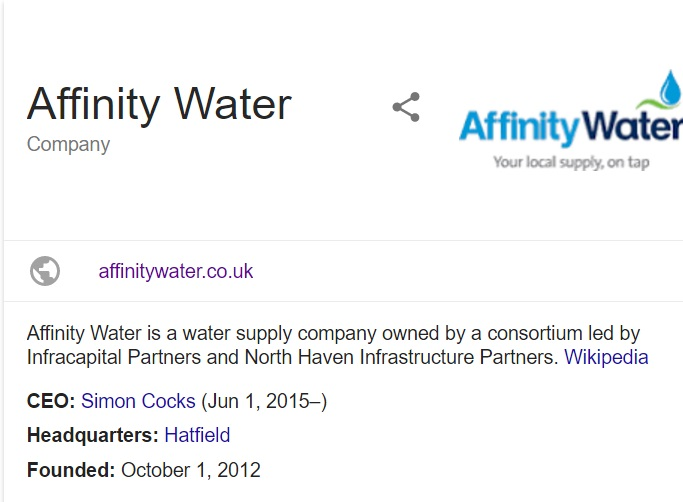 contact affinity water