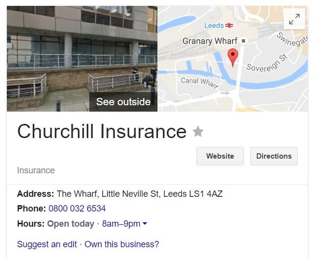 contact churchill insurance