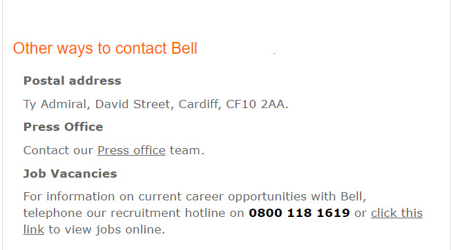 Other ways to contact Bell Insurance