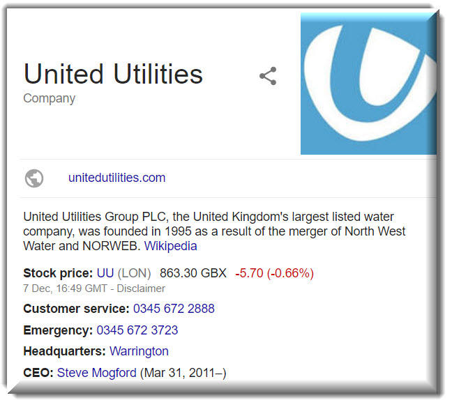 United Utilities contact info