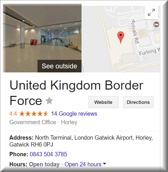 border force contact info