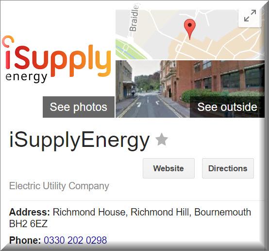 iSupplyEnergy Contact detils