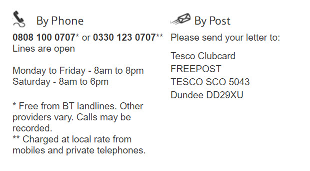 Clubcard Boost Contact Number and Mail