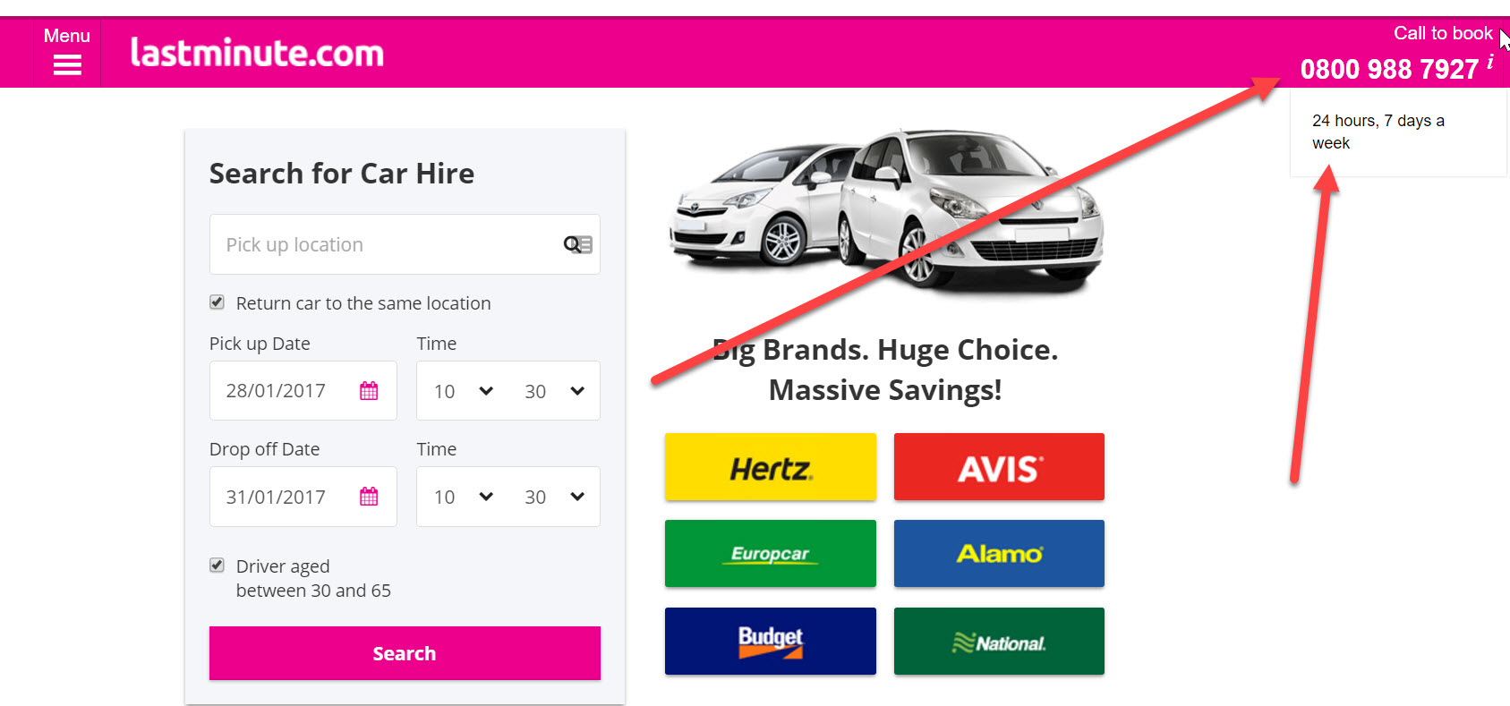 car-hire lastminute
