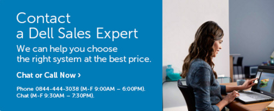 contact Dell sales expert uk