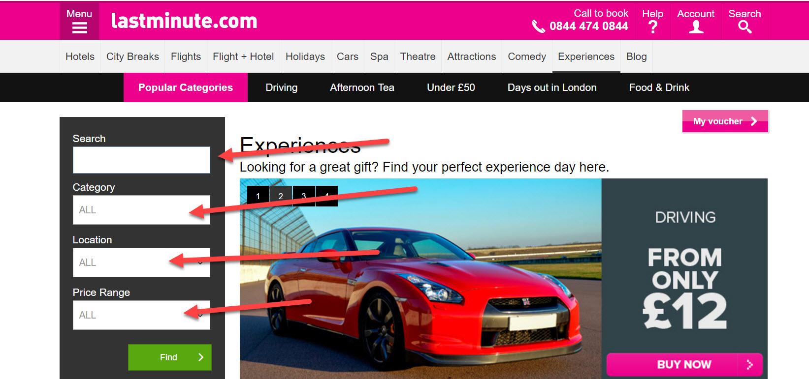 lastminute.com experiences