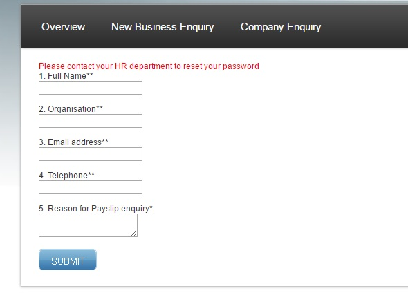 ADP enquiry form