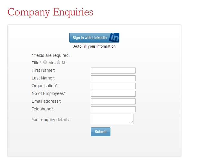 ADO Company enquiries
