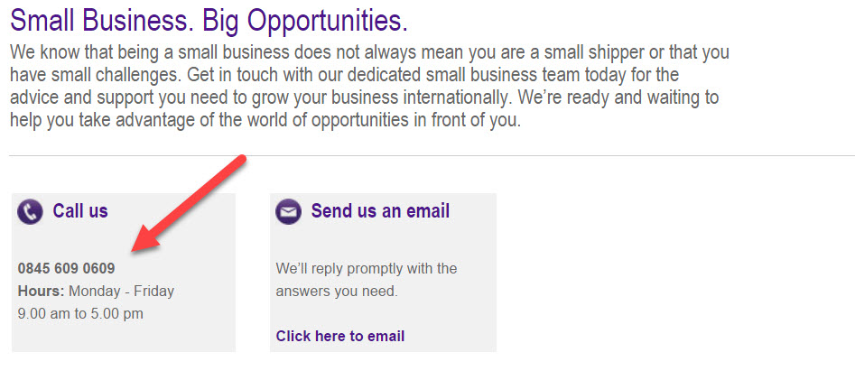 fedex business number