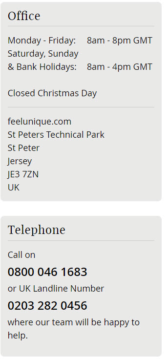 feelunique phone numbers