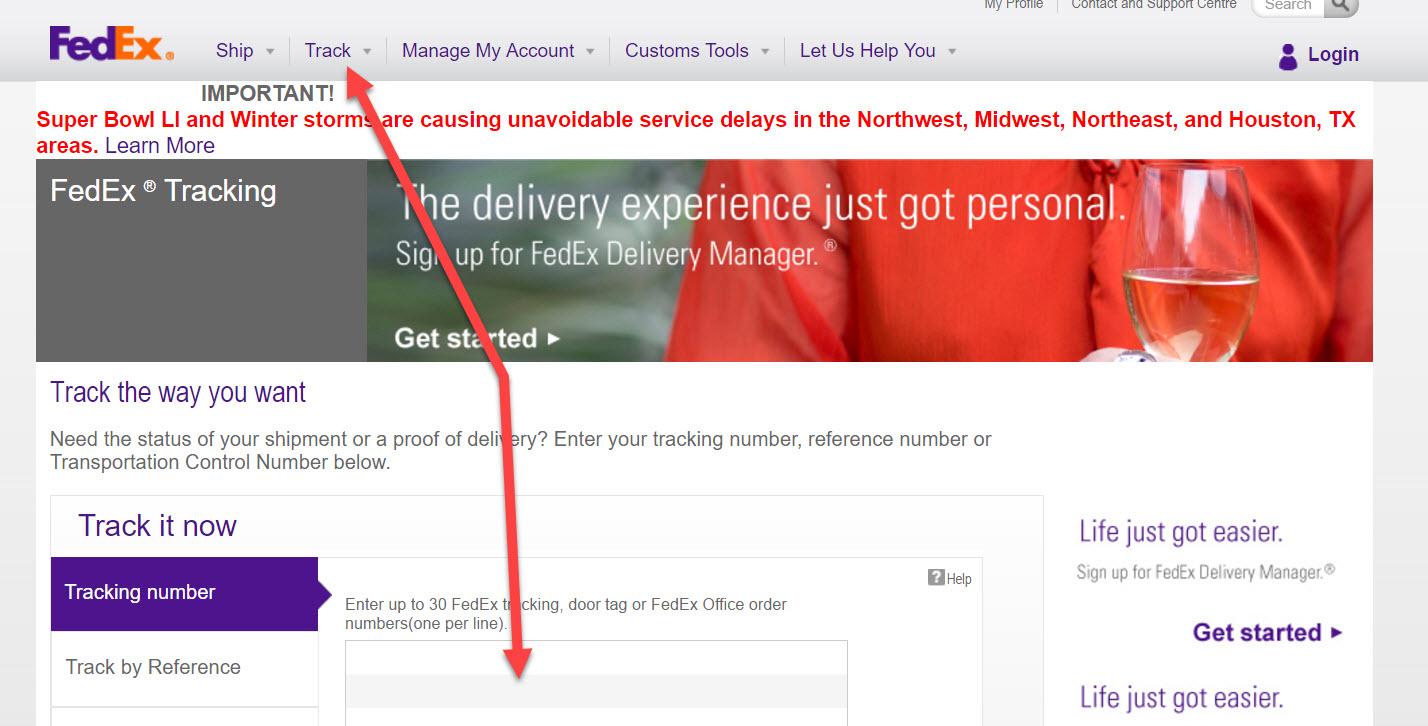 Tracking FedEx Shipment