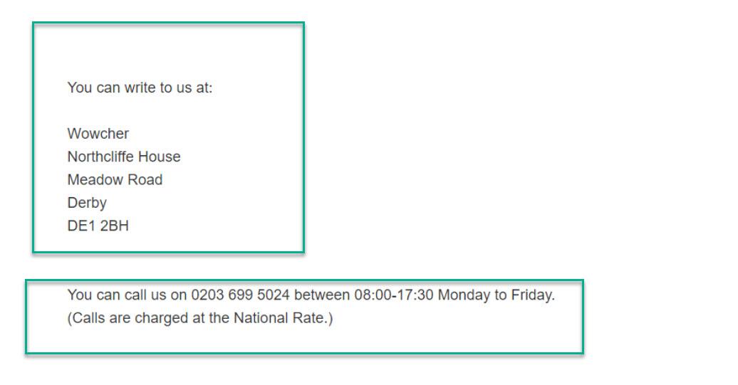 wowcher contact details
