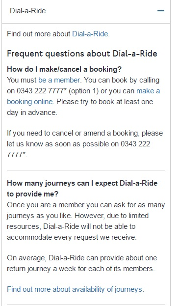 Dial a Ride Numbers