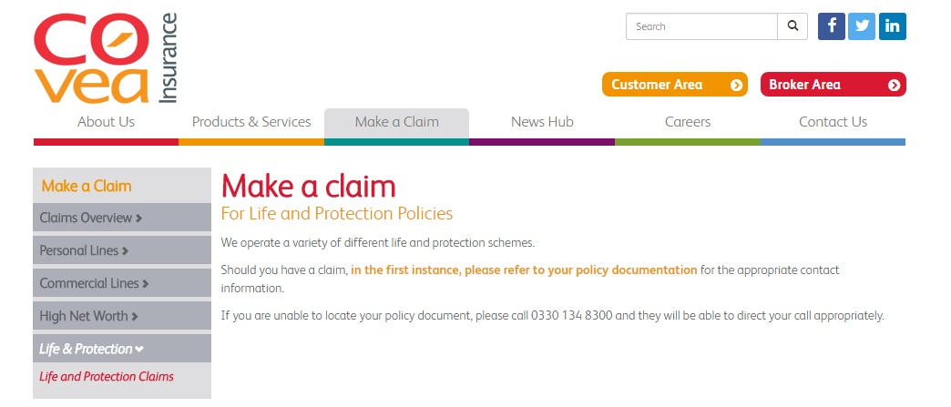 Covea Life Protection Policies Claims Number