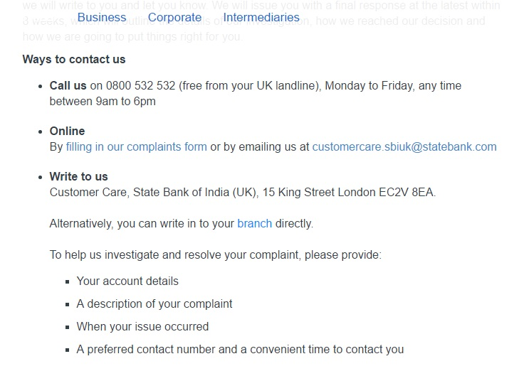 how to contact SBI