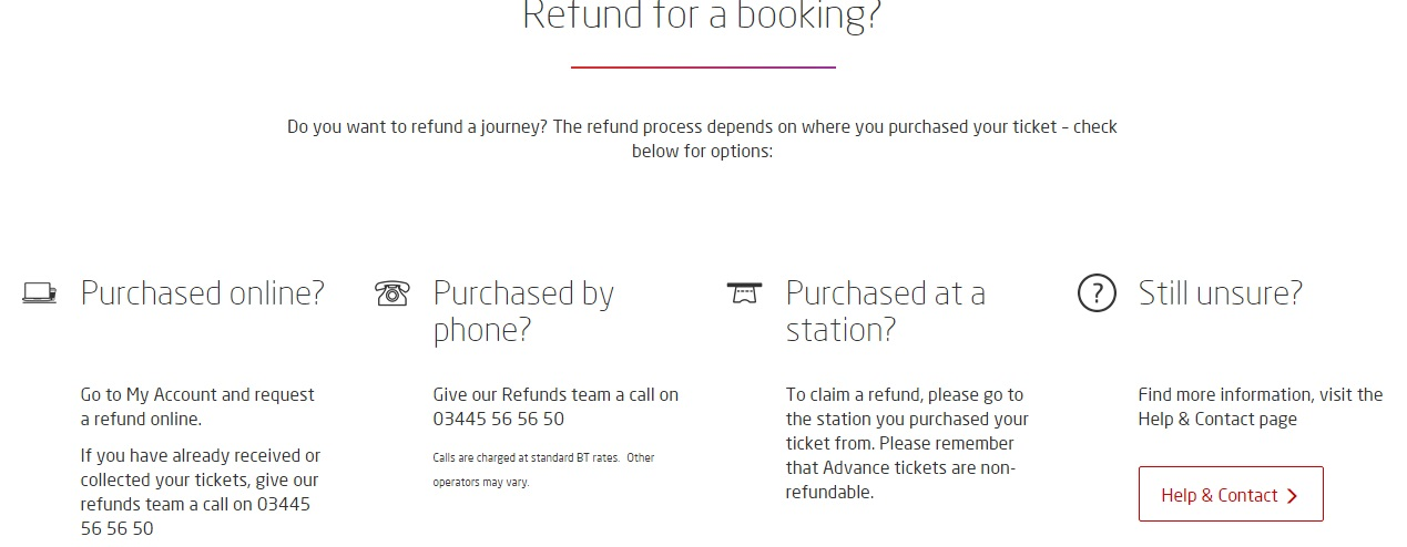 Virgin Trains Refunds