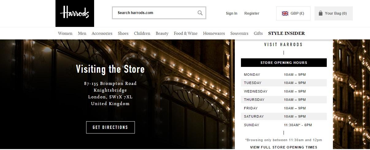 Harrods Store Enquiries