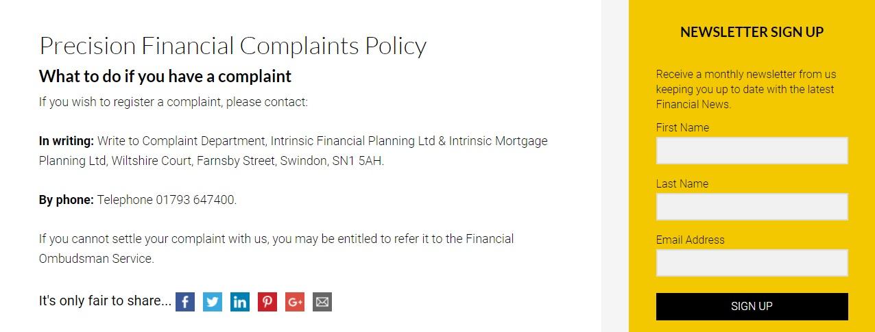 Precision Finance Complaints
