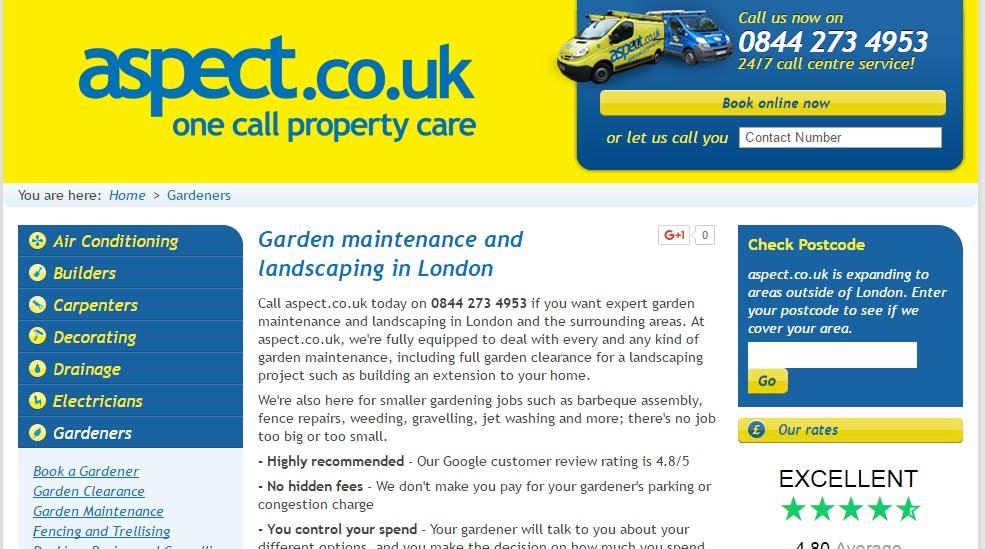 Aspect Gardener and Plumber