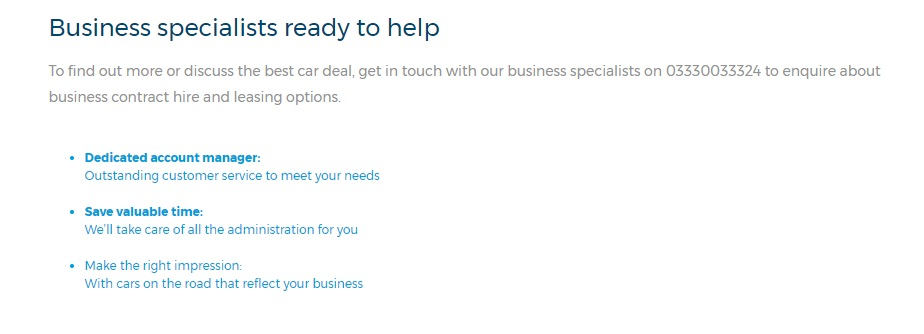 Business specialist number