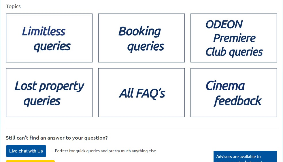 Odeon services
