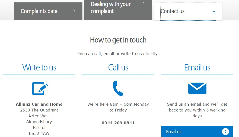 How to get in touch Allianz