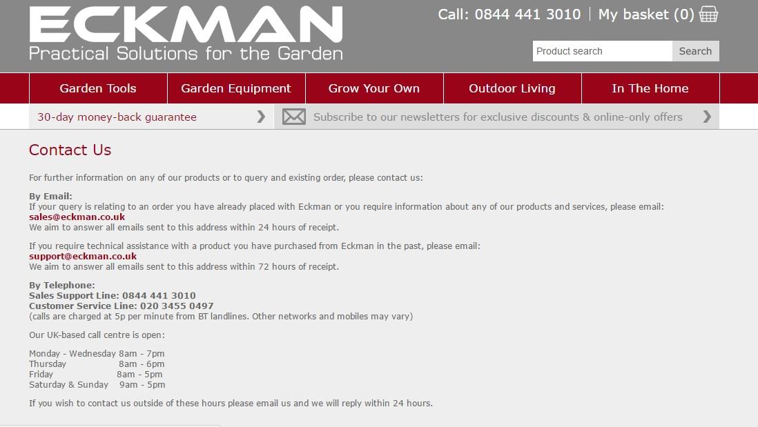 Eckman contact numbers