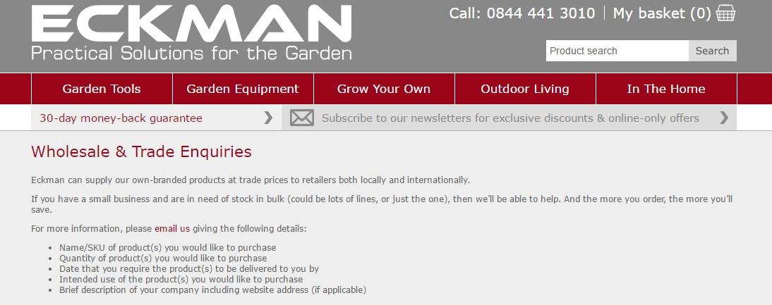 Eckman Wholesale Email