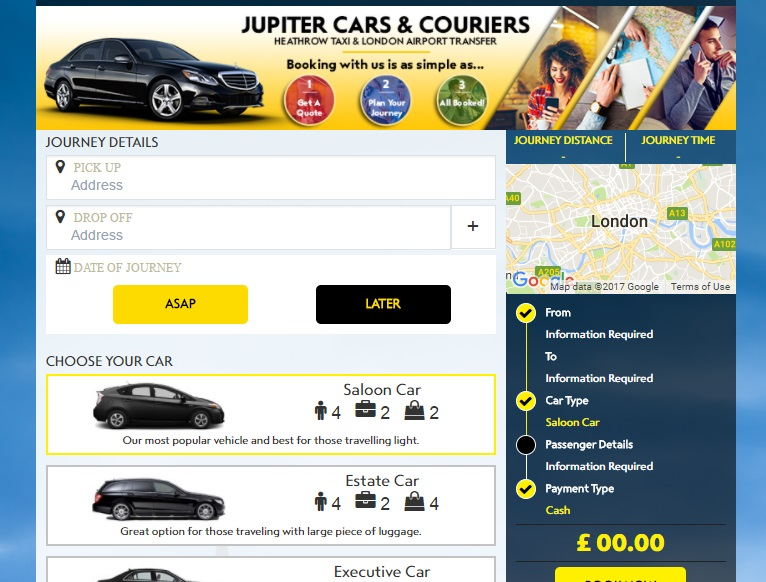 Jupiter Cars and Couriers Bookings