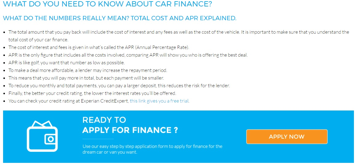 New Look Loans Car Finance Application