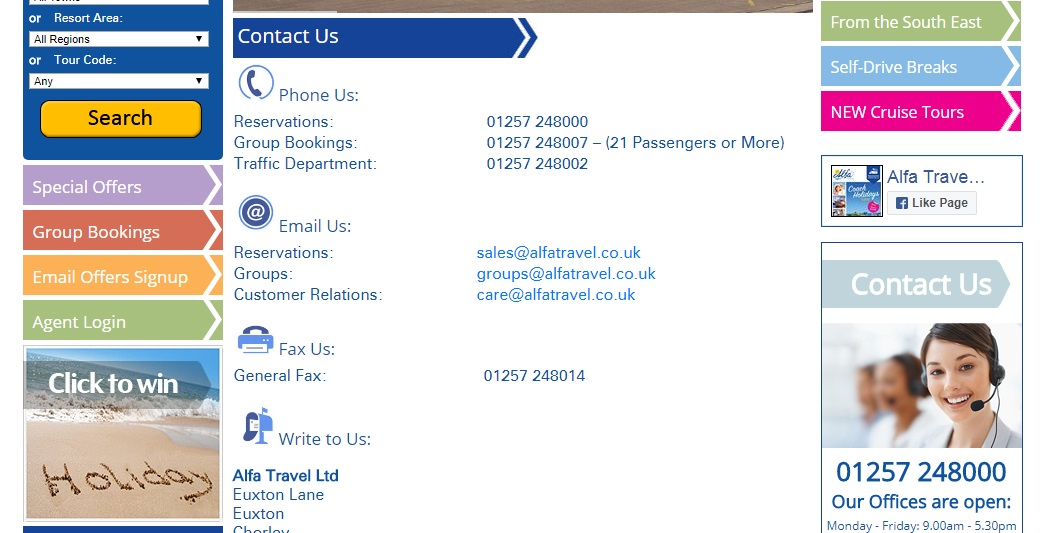 Alfa Travel Contact Information