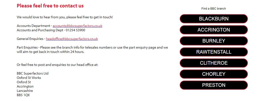 BBC Superfactors contact us