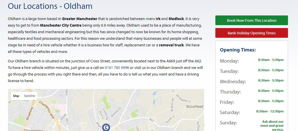 County Car and Van Rental Oldham