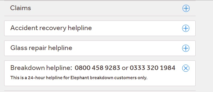 Elephant Insurance Breakdown Number