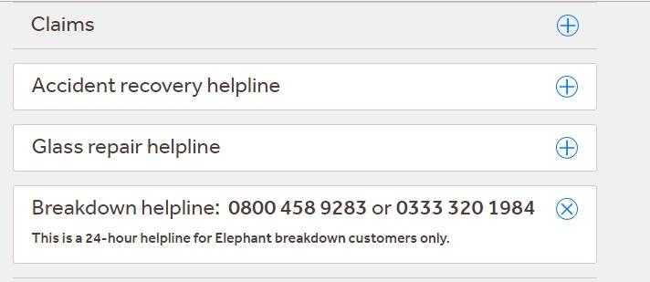 Elephant Insurance Breakdown Number