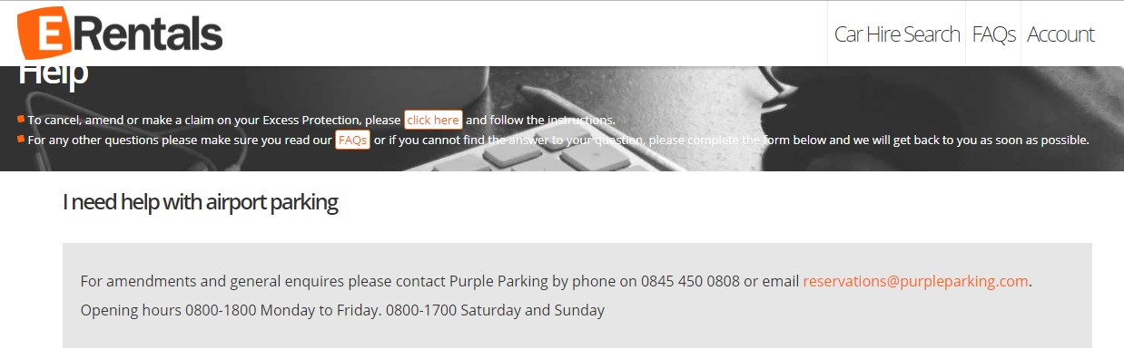 Airport Parking Number Erentals