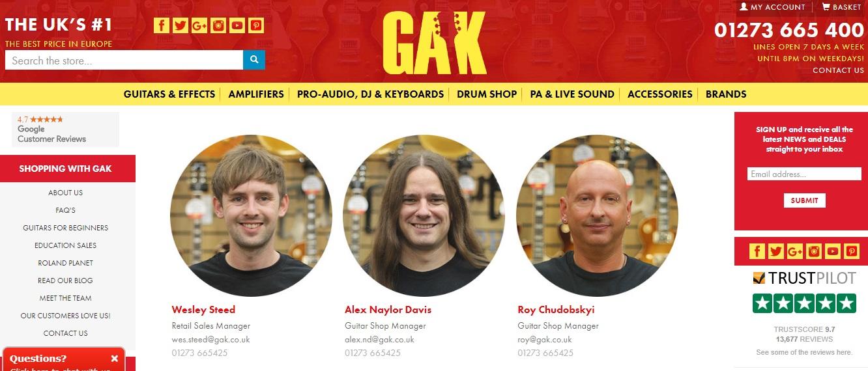 GAK Sales