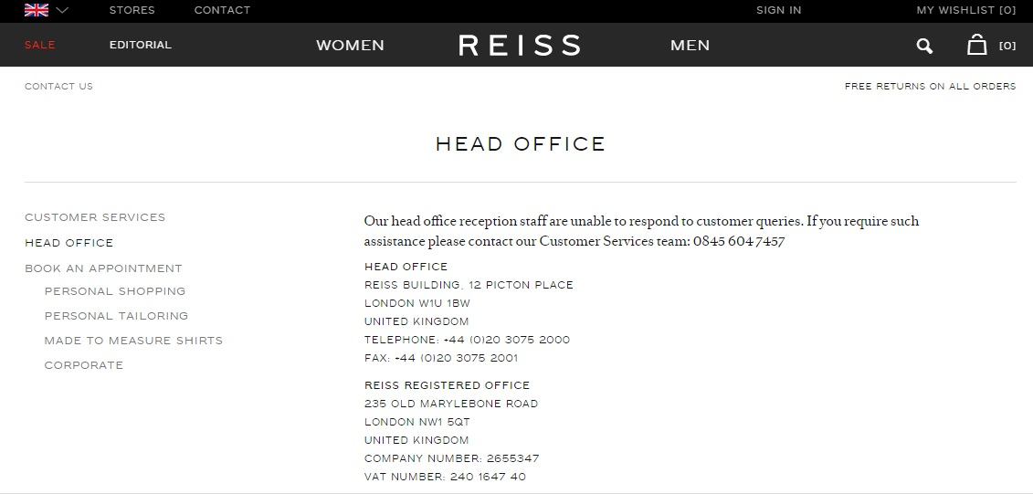 Reiss head office
