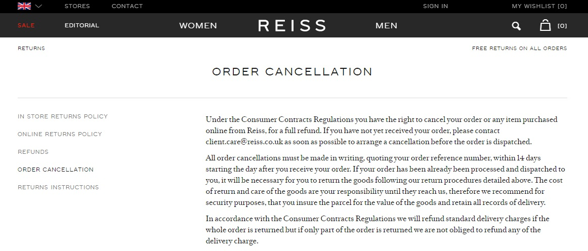 Reiss Orders